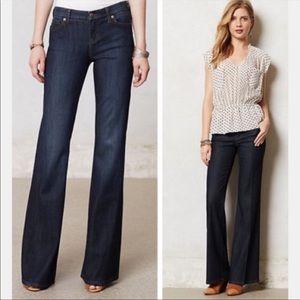 Level 99 Blue Newport Wide Leg Jeans   32
